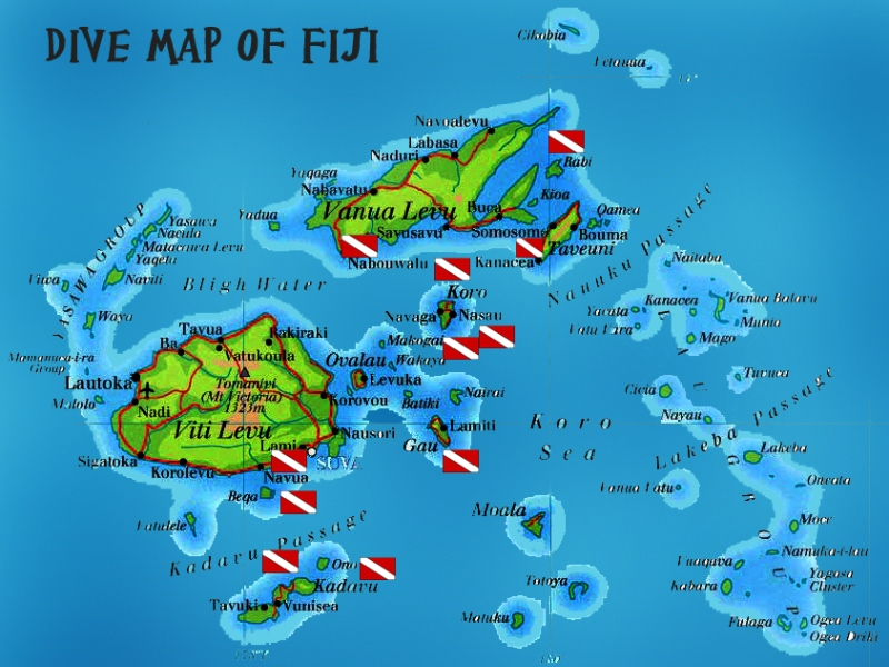 Diving and snorkelling in fiji dive map fiji gumiabroncs Gallery